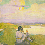Roerich N.K. (Part 6) - Farmer sitting on the riverbank