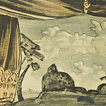 Roerich N.K. (Part 2) - Sketch of scenery for theatrical productions fantasy Mussorgsky
