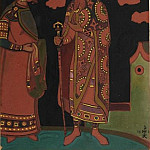 Roerich N.K. (Part 2) - Sketch of costume Maiden and King Berendey (Maiden and Berendey)