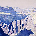 Roerich N.K. (Part 2) - Blue temples (the Grand Canyon. Arizona) (2)