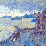 Roerich N.K. (Part 2) - The Castle by the Sea (sketch for the painting