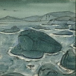 Roerich N.K. (Part 4) - Giantess Krimgerd (sketched lithography)