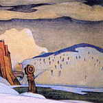 Roerich N.K. (Part 2) - Winter (backstage sketch)