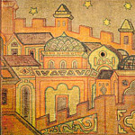 Roerich N.K. (Part 1) - Thumbnail mosaic panel for monument AIKuindzhi (Tree of Life)