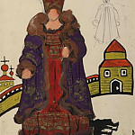 Roerich N.K. (Part 2) - Sketch of costume Boyarinya (wife boyar)