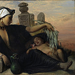 An Egyptian Fellah Woman with her Baby, Elisabeth Anna Maria Jerichau-Baumann