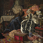 Kobenhavn (SMK) National Gallery of Denmark - Kristian Zahrtmann (1843-1917) - The Death of Queen Sophie Amalie