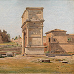 Kobenhavn (SMK) National Gallery of Denmark - Constantin Hansen (1804-80) - The Arch of Titus in Rome