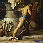 Kobenhavn (SMK) National Gallery of Denmark - Carl Bloch (1834-90) - Samson and the Philistines