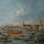 Kobenhavn (SMK) National Gallery of Denmark - Francesco Guardi (1712-93) - The Bucintoro Festival of Venice. The Bacino di S. Marco with the Bucintoro, the Doge´s State Barge, on Ascension Day