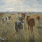 Theodor Philipsen – Cattle on the Island of Saltholm, National Gallery of Denmark, Kobenhavn (SMK)