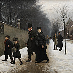 Kobenhavn (SMK) National Gallery of Denmark - Frants Henningsen (1850-1908) - A Funeral