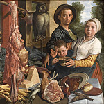 Kobenhavn (SMK) National Gallery of Denmark - Pieter Aertsen - The Fat Kitchen. An Allegory