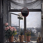 Kobenhavn (SMK) National Gallery of Denmark - Martinus Rørbye (1803-48) - View from the artist's room