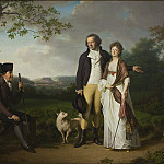 Jens Juel – Niels Ryberg with his Son Johan Christian and his Daughter-in-Law Engelke, National Gallery of Denmark, Kobenhavn (SMK)