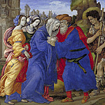Kobenhavn (SMK) National Gallery of Denmark - Filippino Lippi (C. 1457-1504) - The Meeting of Joachim and Anne outside the Golden Gate of Jerusalem