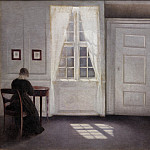 Kobenhavn (SMK) National Gallery of Denmark - Vilhelm Hammershøi (1864-1916) - Interior in Strandgade, Sunlight on the Floor