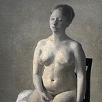 Kobenhavn (SMK) National Gallery of Denmark - Vilhelm Hammershøi (1864-1916) - Seated Female Nude
