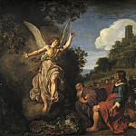 Kobenhavn (SMK) National Gallery of Denmark - Pieter Lastman (1583-1633) - The Angel Raphael Takes Leave of Old Tobit and his Son Tobias