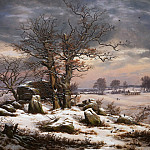 Johan Christian Dahl – Winter Landscape. Near Vordingborg, National Gallery of Denmark, Kobenhavn (SMK)