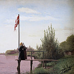 Christen Købke – A View from Dosseringen near the Sortedam Lake Looking Towards Nørrebro, National Gallery of Denmark, Kobenhavn (SMK)