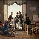 Kobenhavn (SMK) National Gallery of Denmark - Constantin Hansen (1804-80) - A Group of Danish Artists in Rome
