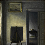 Kobenhavn (SMK) National Gallery of Denmark - Vilhelm Hammershøi (1864-1916) - The Artist's Easel