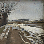 Kobenhavn (SMK) National Gallery of Denmark - Albert Gottschalk (1866-1906), Winter Landscape. Utterslev near Copenhagen