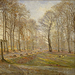 Theodor Philipsen – Late Autumn Day in the Jægersborg Deer Park, North of Copenhagen, National Gallery of Denmark, Kobenhavn (SMK)