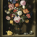 Kobenhavn (SMK) National Gallery of Denmark - Ambrosius Bosschaerts I (1573-1621) - Bouquet of Flowers in a Stone Niche
