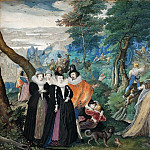 Kobenhavn (SMK) National Gallery of Denmark - Isaac Oliver I (1566-1617) - A Party in open Air