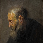 Rembrandt van Rijn , Study of an Old Man in Profile, National Gallery of Denmark, Kobenhavn (SMK)