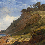 Kobenhavn (SMK) National Gallery of Denmark - Johan Thomas Lundbye (1818-48) - A Danish Coast. View from Kitnæs by the Roskilde Fjord