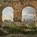 A View through Three of the North-Western Arches of the Third Storey of the Coliseum in Rome, Christoffer Wilhelm Eckersberg