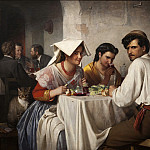 Carl Bloch – In a Roman Osteria, National Gallery of Denmark, Kobenhavn (SMK)