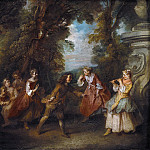 Kobenhavn (SMK) National Gallery of Denmark - Nicolas Lancret (1690-1743) - Children Playing in the Open air