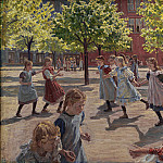 Kobenhavn (SMK) National Gallery of Denmark - Peter Hansen (1868-1928) - Playing Children, Enghave Square