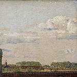 Christen Købke – View from a Window in Toldbodvej Looking towards the Citadel in Copenhagen, National Gallery of Denmark, Kobenhavn (SMK)