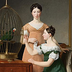 Christoffer Wilhelm Eckersberg – Bella and Hanna. The Eldest Daughters of M.L. Nathanson, National Gallery of Denmark, Kobenhavn (SMK)