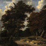 Kobenhavn (SMK) National Gallery of Denmark - Jacob Isacksz van Ruisdael (C. 1628-82) - Road through an oak Forest