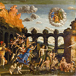 Andrea Mantegna -- Minerva hunting the Vices in the gardens of Virture, Part 1 Louvre