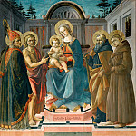 Part 1 Louvre - Francesco Pesellino (c. 1422-1457) -- Madonna and Child with Saints Zenobius, John the Baptist, Anthony Abbott, and Francis of Assisi