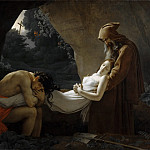 Anne-Louis Girodet de Roucy-Trioson -- Entombment of Atala , Part 1 Louvre