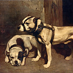 Part 1 Louvre - Alexandre-Gabriel Decamps -- Scottish bulldog and terrier