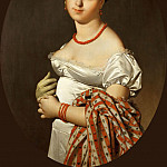 Part 1 Louvre - Ingres, Jean Auguste Dominique -- Mme.Panckoucke, Cecile Bouchet (1787-1865). Painted in Rome, 1811. Canvas, 93 x 68 cm R.F. 1942-25