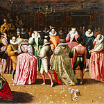 French School -- Ball at the Court of Henry III , Part 1 Louvre