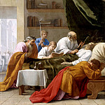Eustache Le Sueur -- Life of St. Bruno: Death of Raymond Diocrès, Part 1 Louvre