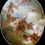 Part 1 Louvre - Jean-Honoré Fragonard -- Swarm of Cupids (Essaim d'Amour)