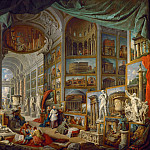 Part 1 Louvre - Giovanni Paolo Panini -- Gallery of the views of ancient Rome.