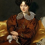 Part 1 Louvre - Ingres, Jean Auguste Dominique -- Mme. Marcotte de Sainte-Marie (1803-1862) Painted 1826, Salon 1827. Canvas, 93 x 74 cm R.F. 2398